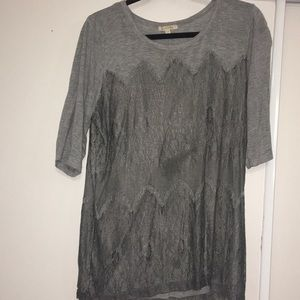 Gently worn Anthropologie XL lace overlay shirt